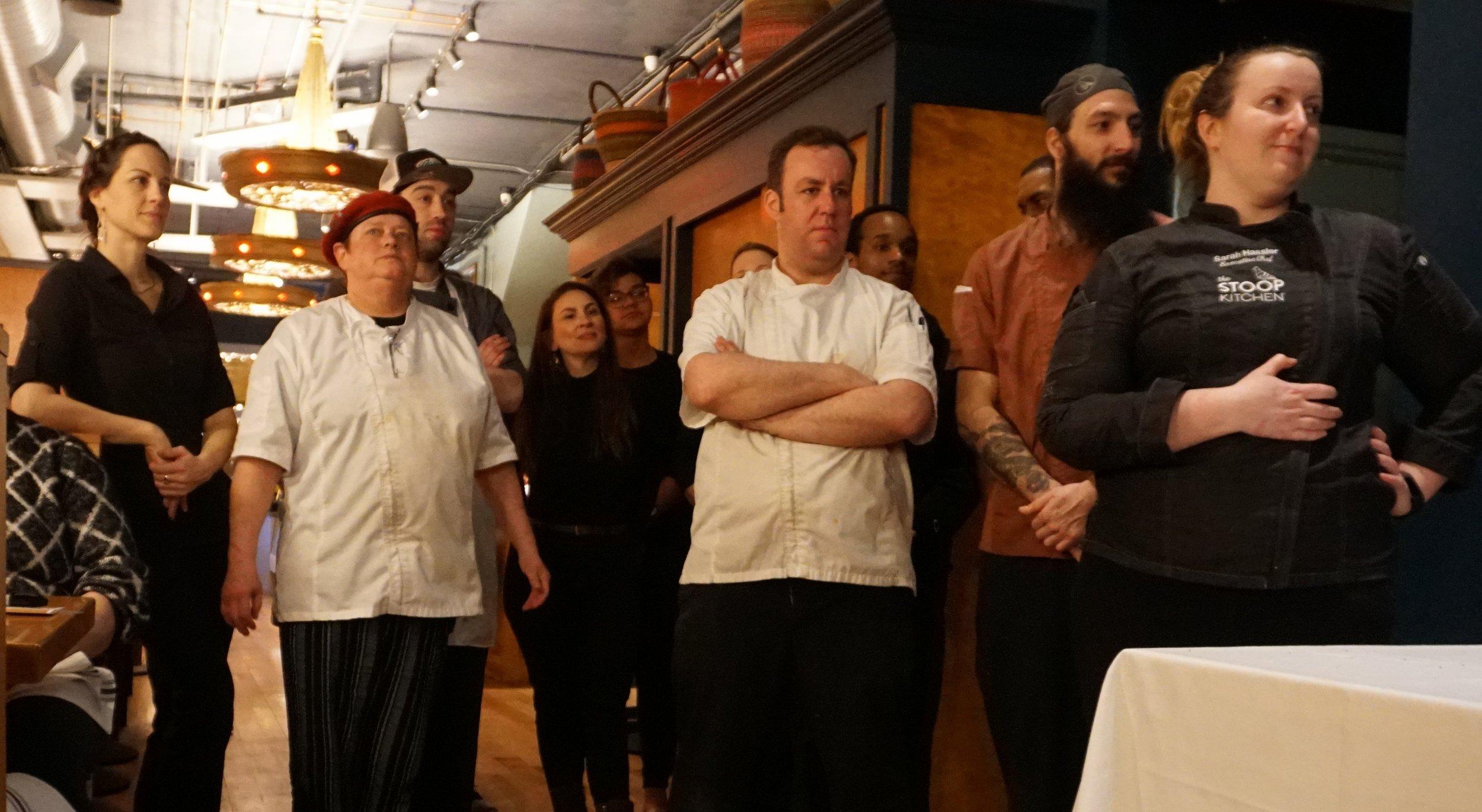 The Stoop Kitchen Team and Mario Gorea