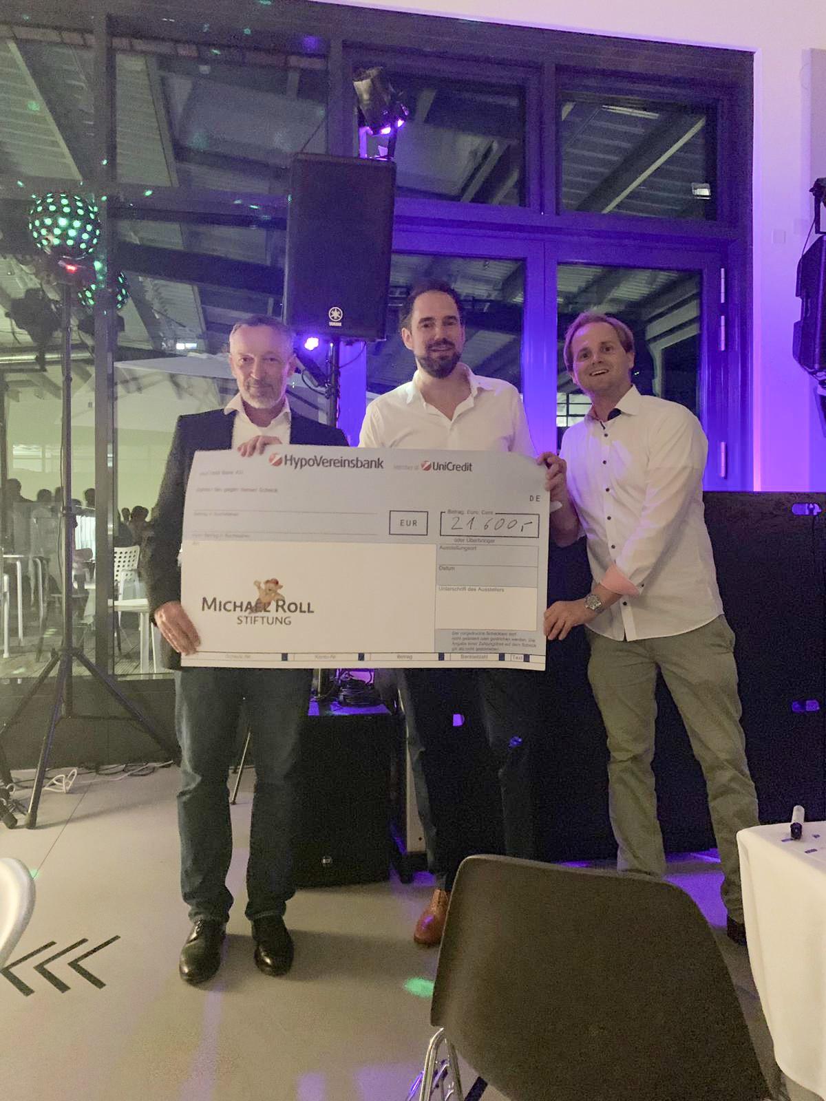 21.600 € für die Michael Roll Stiftung