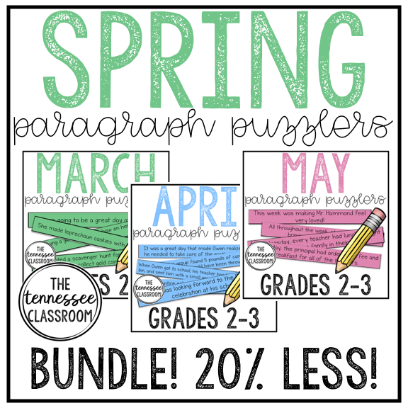 Spring Paragraph Puzzlers -