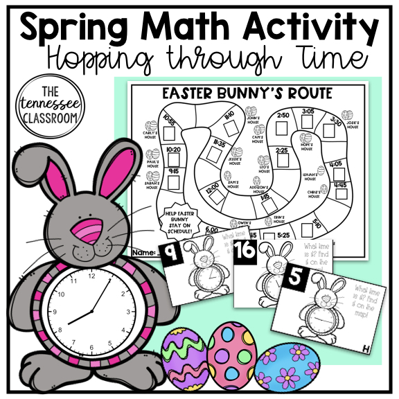 Spring Math Activity: Time -