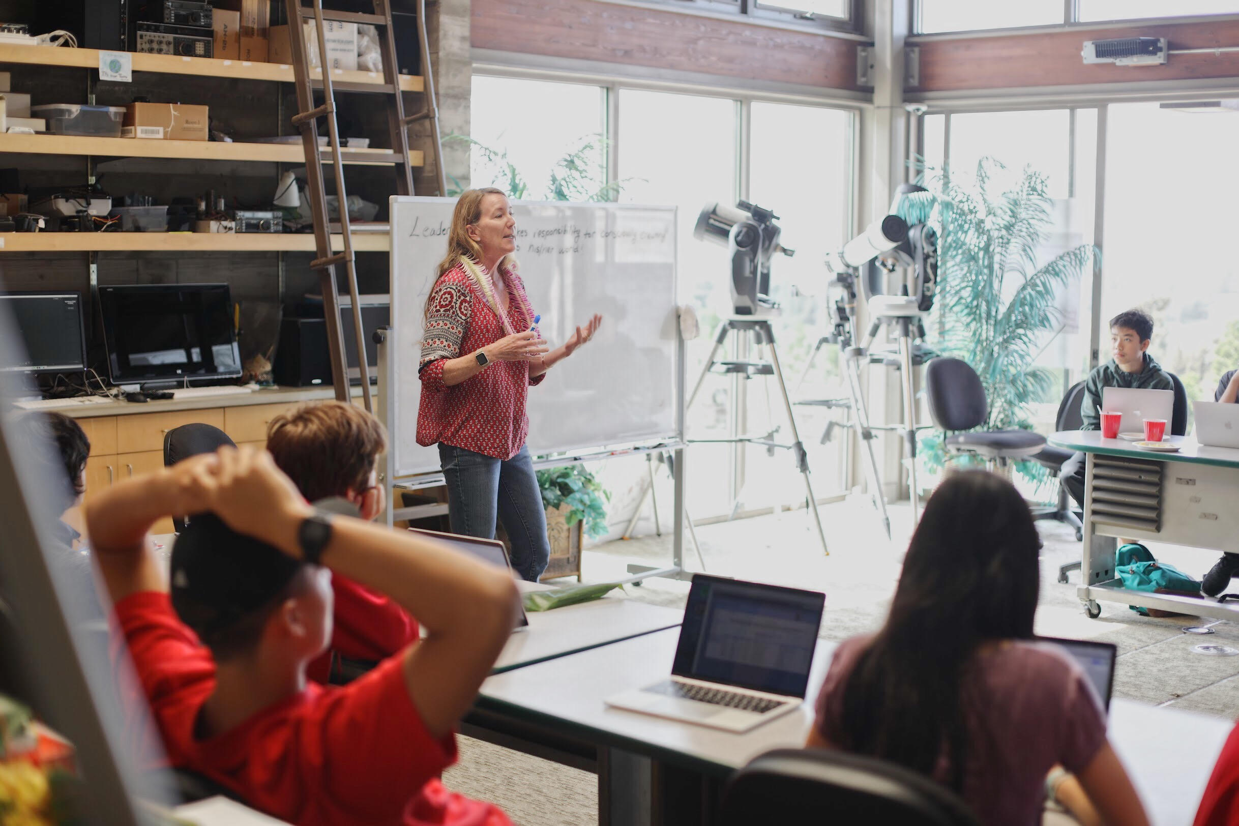 Sydney Wiecking shares her leadership insight with Nalukai 2018 students. Photo by Gabriel Navalta.