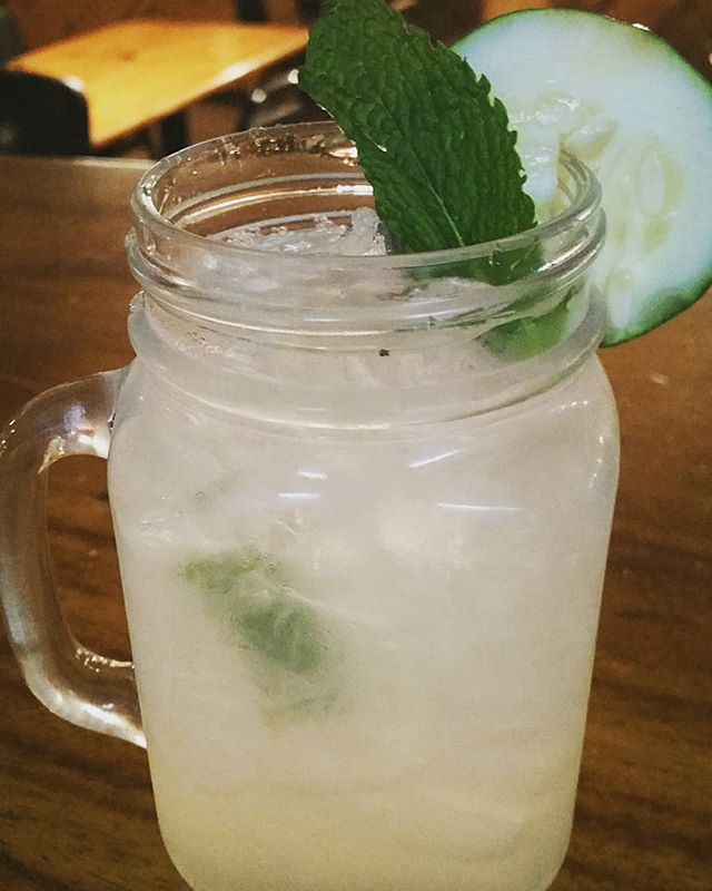 Empire Mule! Cucumber gin, fresh mint (grown on our front porch!) Fresh lime juice and ginger beer 💚 #drinklocal # cocktails # summertime #leelanaucounty #empiremi