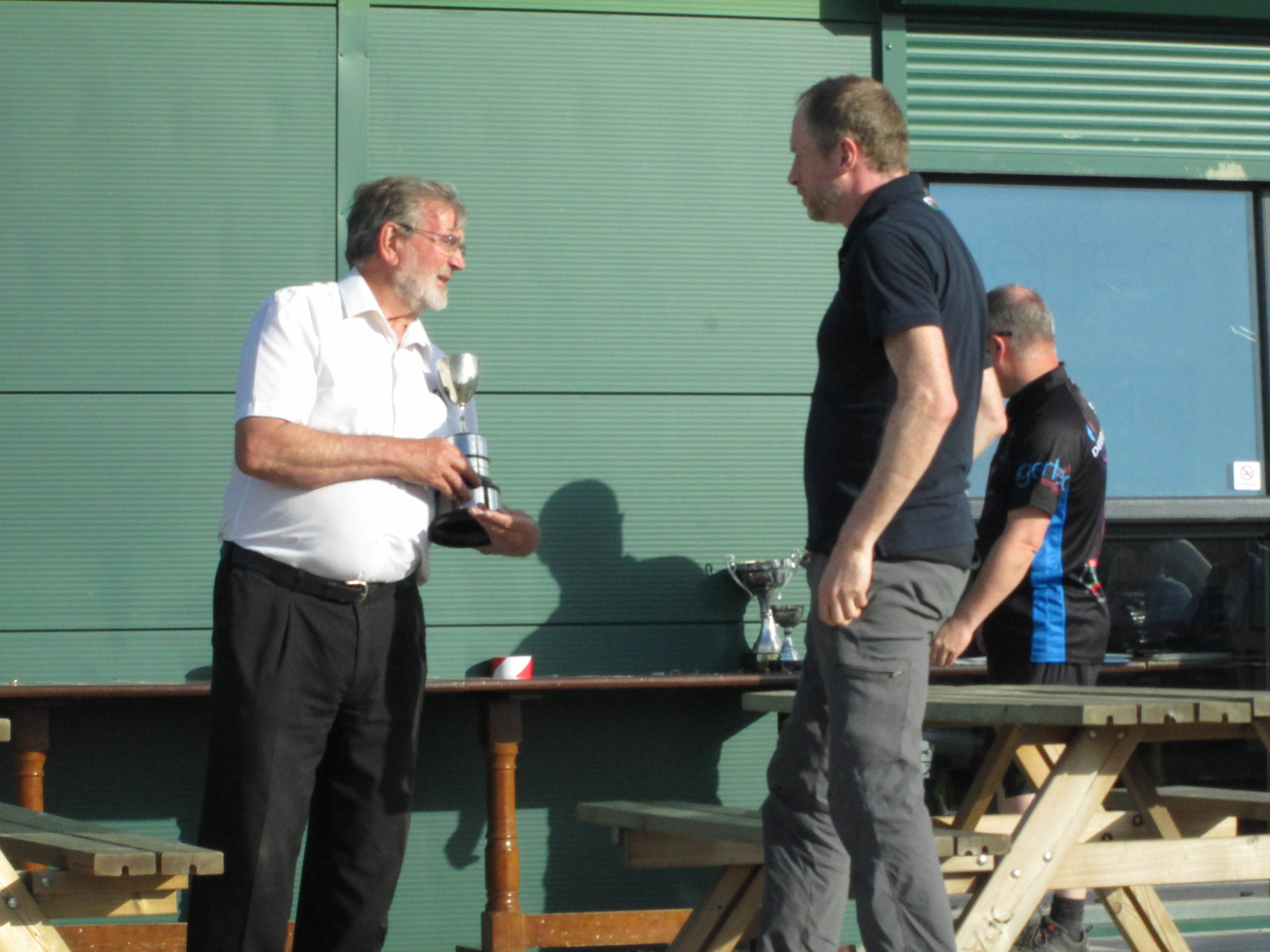 Mike Bar collecting his Bronze