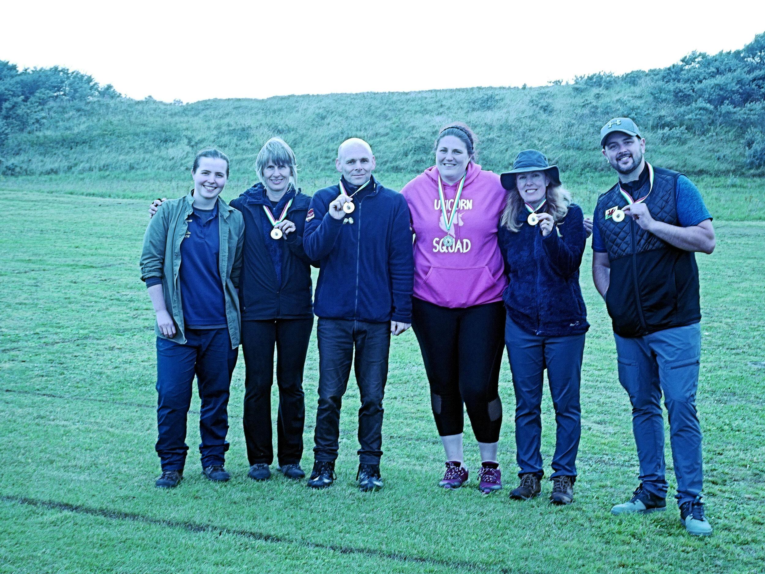 Castle Bowmen   standing heroically in a wet field
