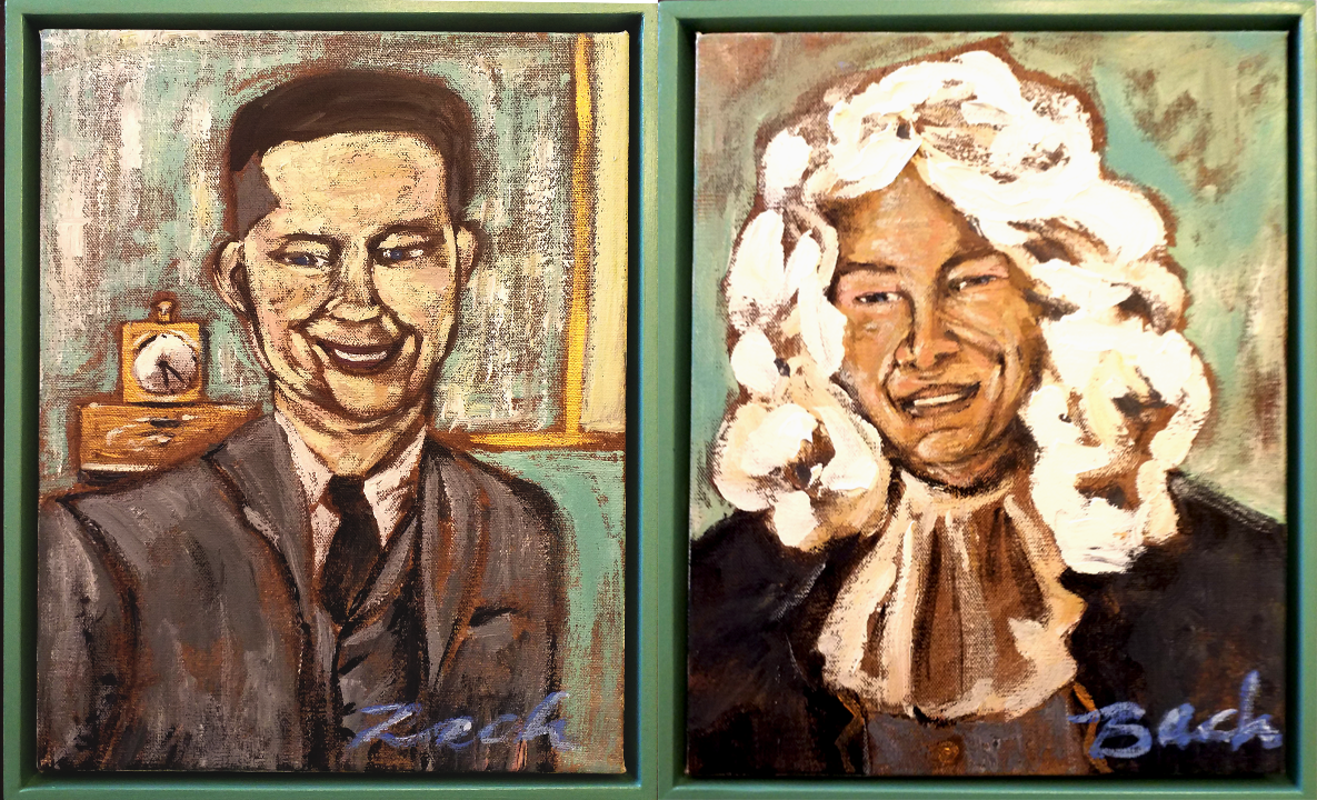 LOVELY RACH & BACH PAINTINGS BY AMANDA TALLEY   Amanda Talley  made these wonderful paintings to comemerate our Rach & Bach Concert for the 100th Anniversary of the ESU!