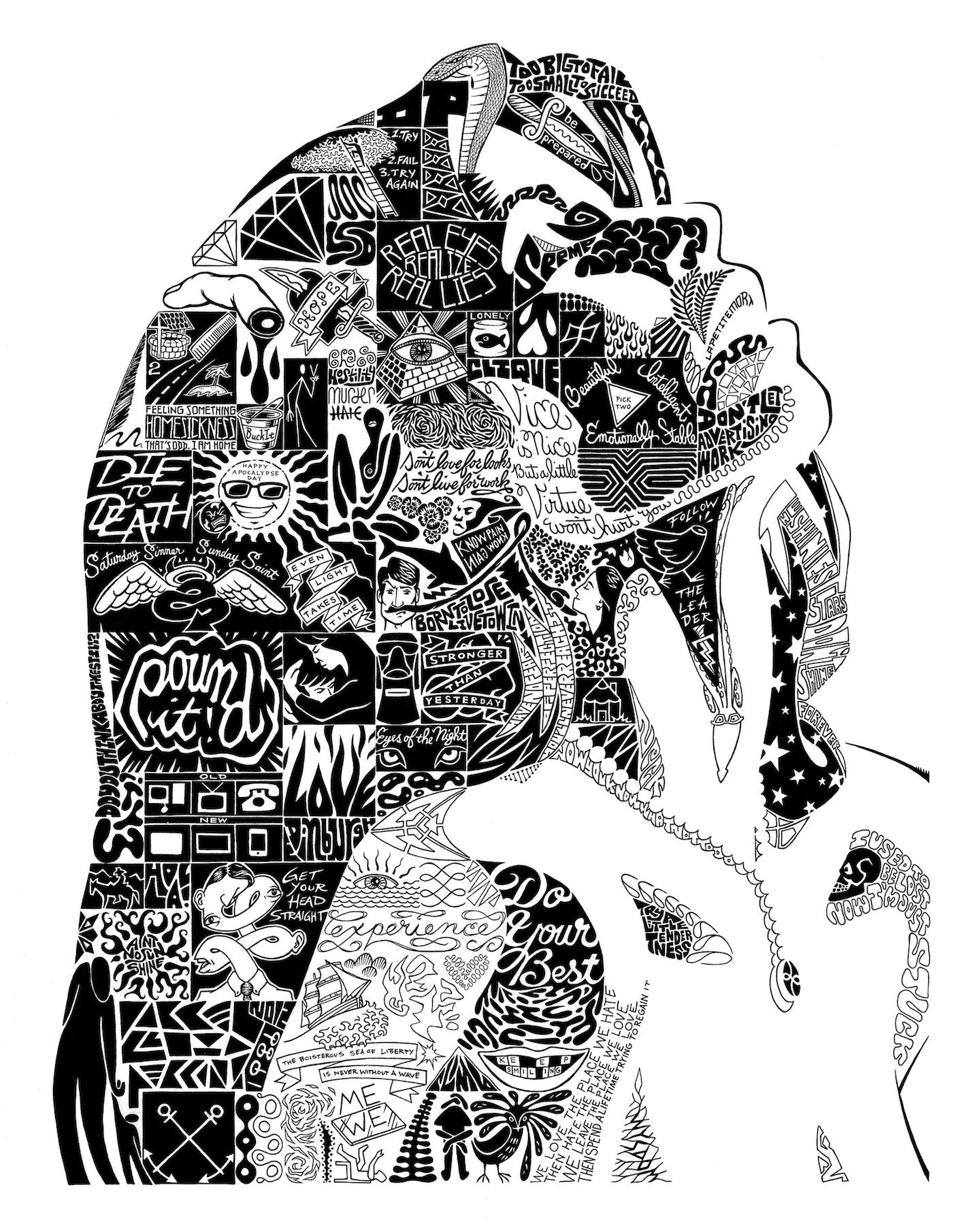 "La Petite Mort. Ink. 2012. 21x27"""