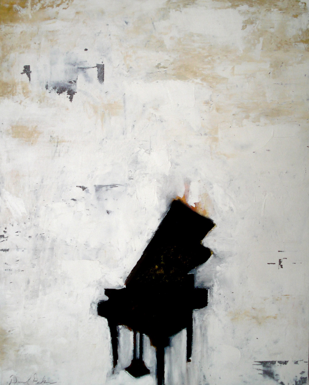 Piano. Oil on Panel. 2007. 16x20""