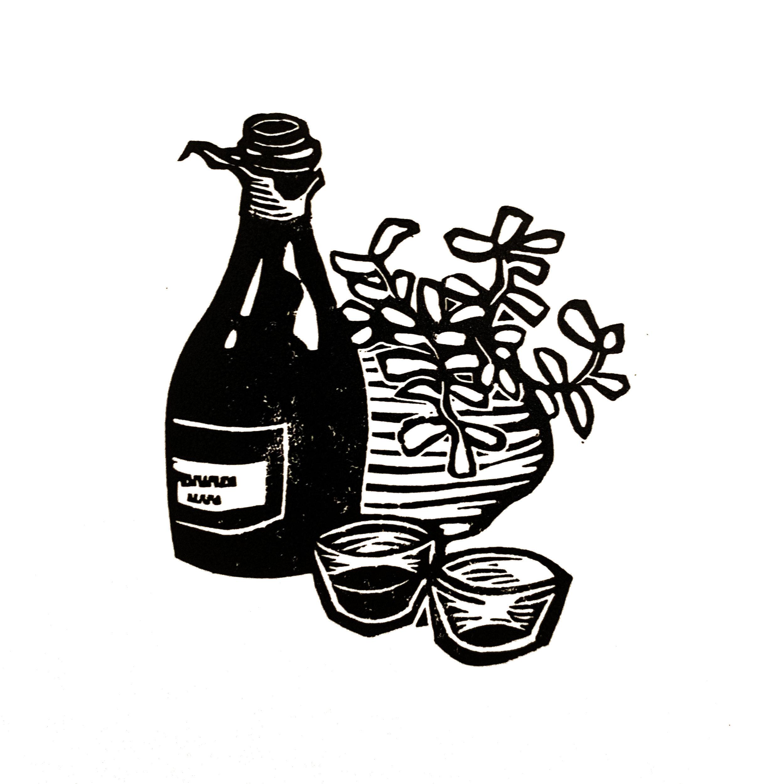 Wine. Linocut. 2019. 4x3.jpg