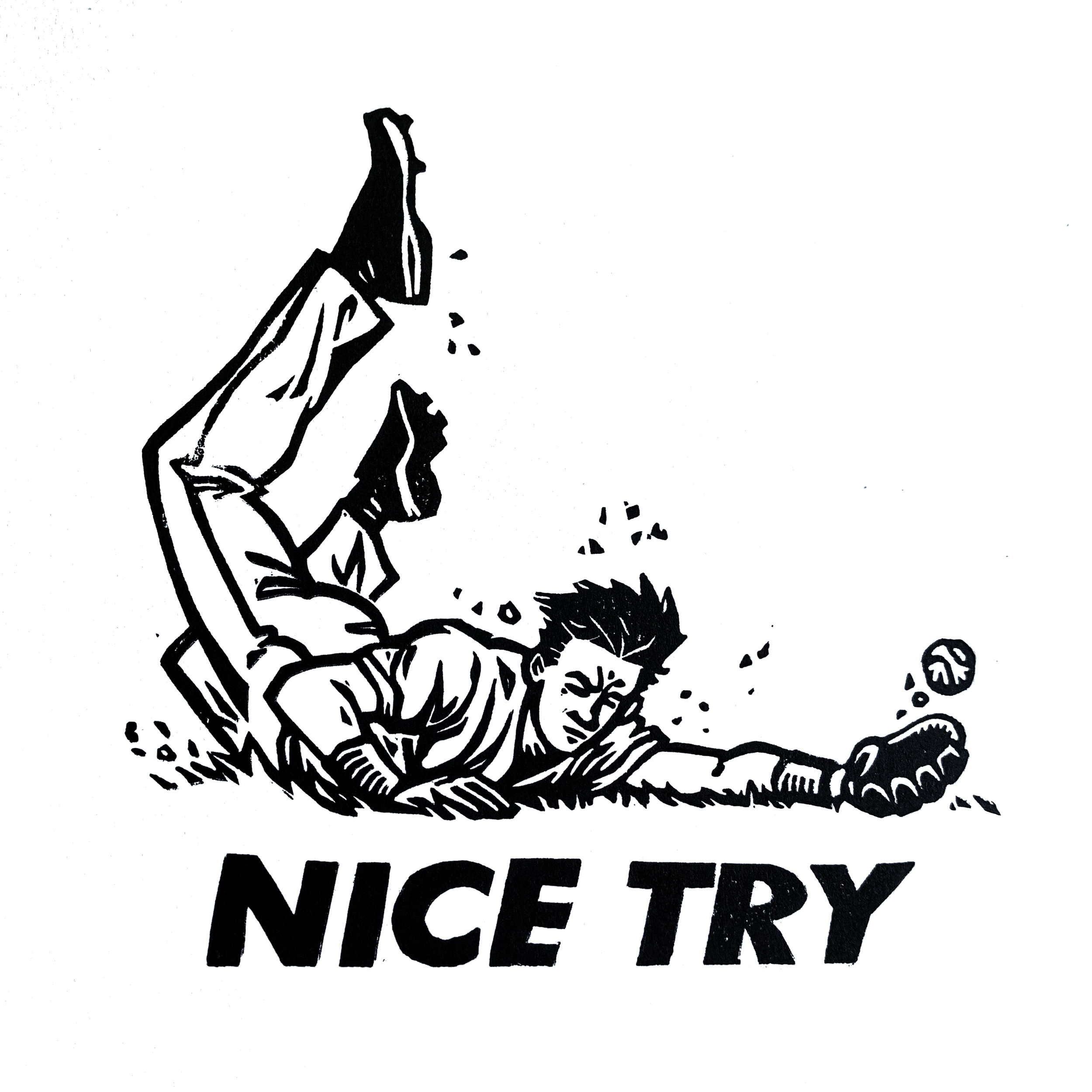 Nice Try. Linocut. 2019. 6x6.jpg