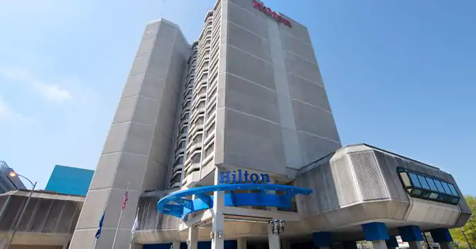 Just outside DC - The Hilton Crystal City is just outside of Washington, DC. The hotel is located very near Ronald Reagan Washington National Airport and convenient to the Crystal City metro station.