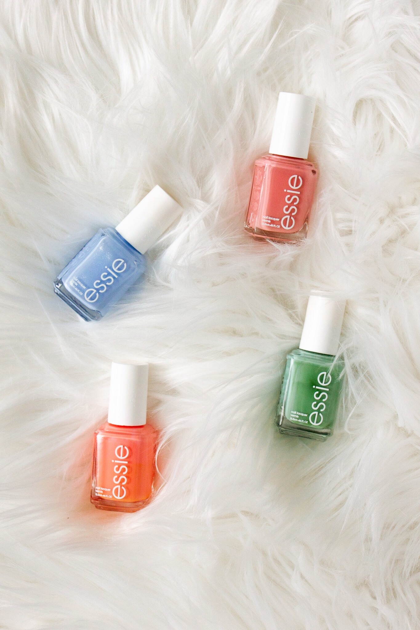 Bikini So Teeny (blue), Perfect Mate (pink), Mojito Madness (green), Tart Deco (coral)