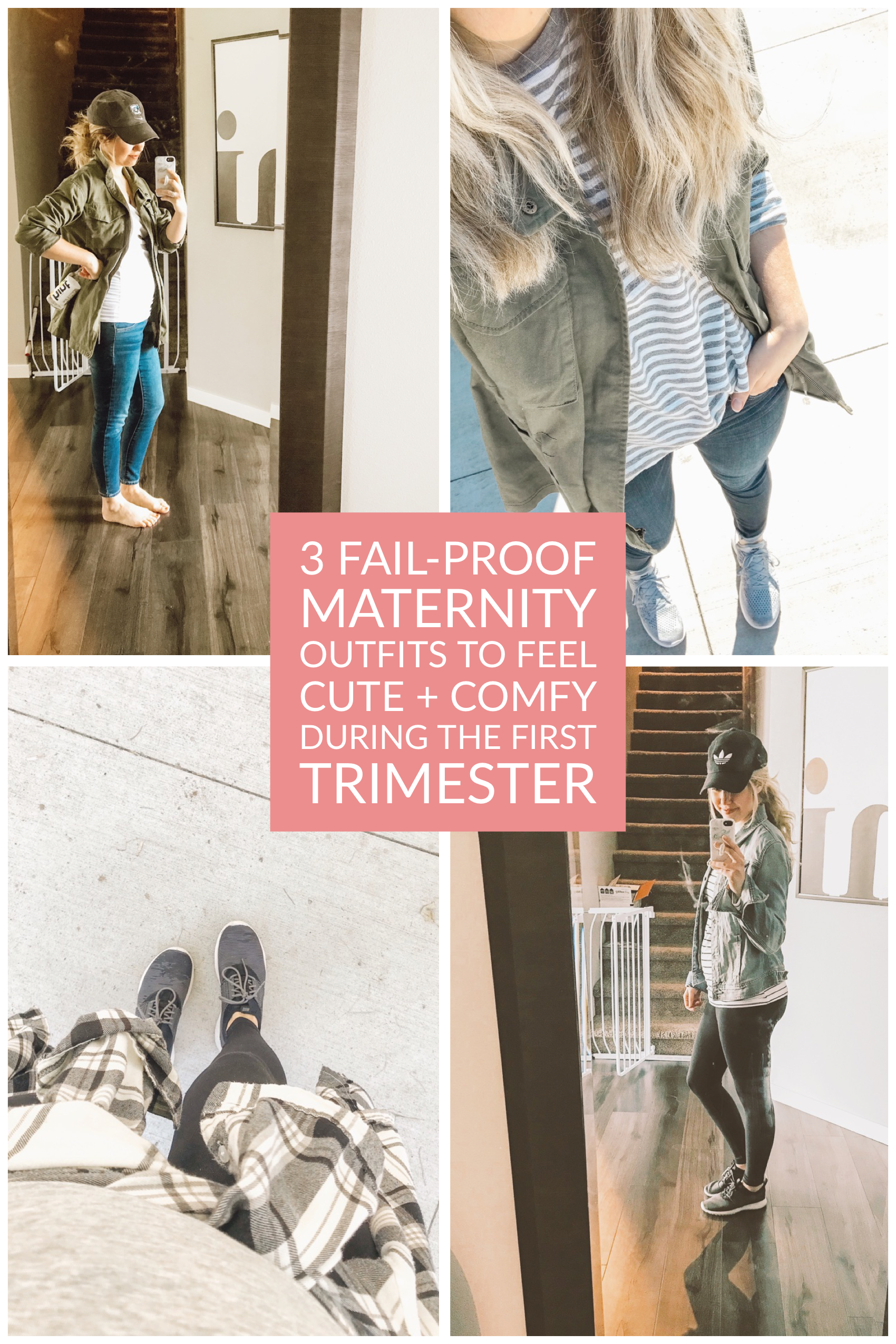 3 Fail Proof Maternity Outfits To Feel Cute Comfy During The First Trimester Adrianna Bohrer