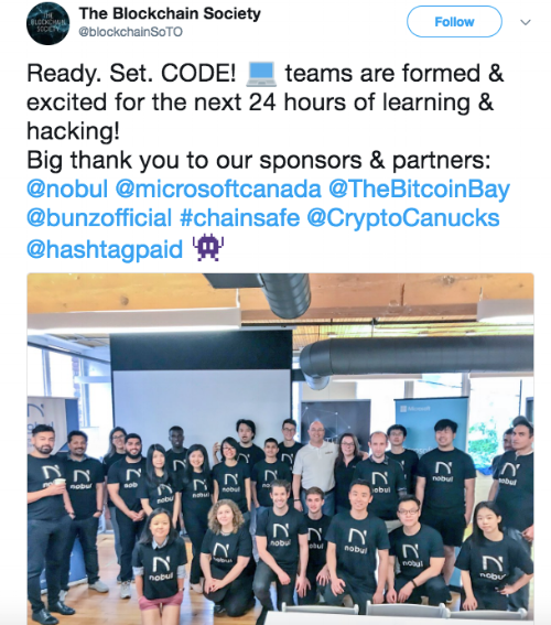 - Kicking off the event, participants engaged in a Learnathon to obtain a firm grasp on the blockchain stack, prior to tackling the competition at hand. It was the hope that this format would allow newcomers to the blockchain space to learn something new, as well as enabling veterans to further hone their skills that they will be working with in the contest.