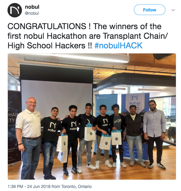 - Coming in first place, was 'The Transplant Chain', winning $750, and 80,000 BTZ coins.