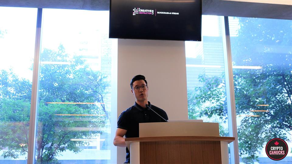 - William Yin of Creative Destruction Lab was also in attendance, who happens to be the Senior Venture Manager of the Blockchain Stream.