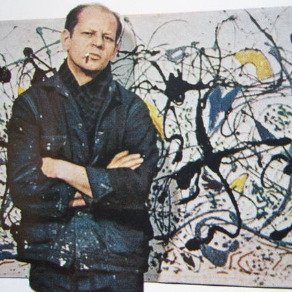 Jackson Pollock and his work. ( The Sleepover)
