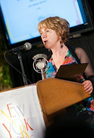 Judith Kampfner speaking at the New York Festivals.