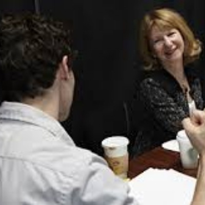 Judith Kampfner working with Tom Datnow.