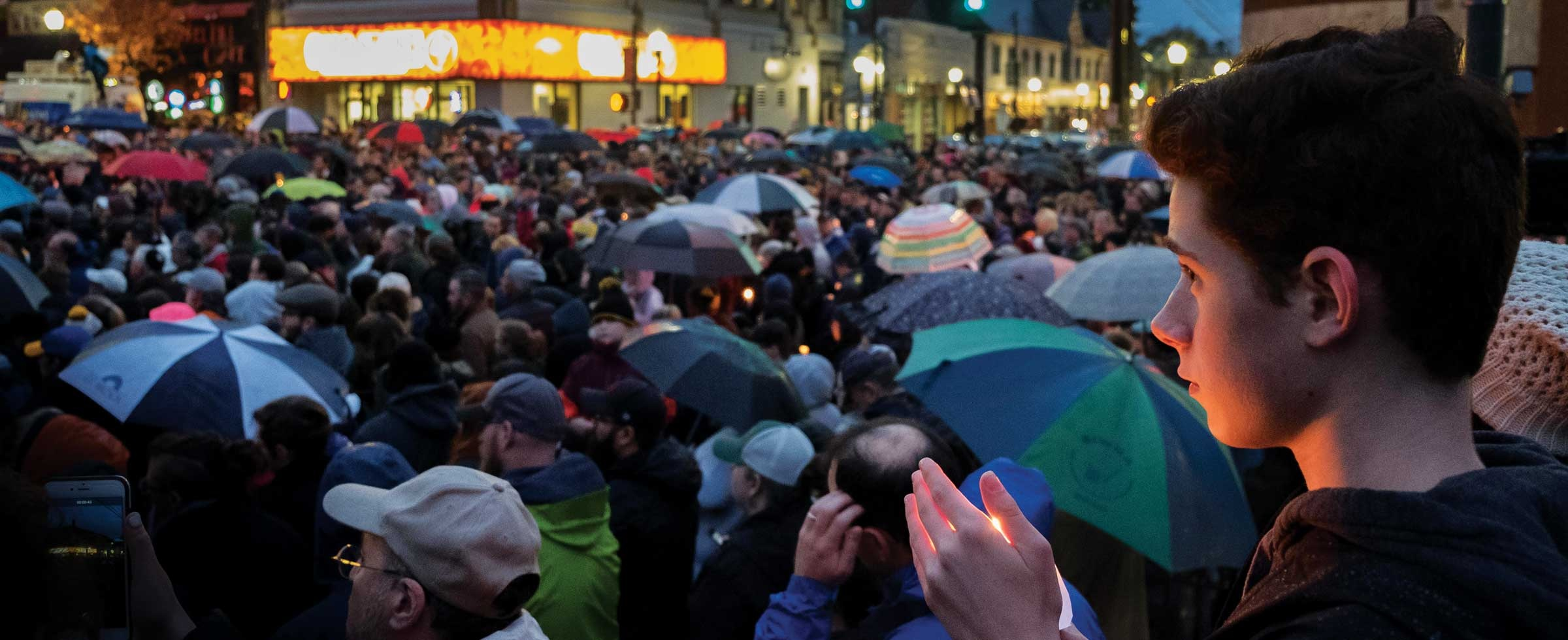 The crowd at an October march against hatred and violence in response to the mass shooting at Tree of Life synagogue in Pittsburgh.