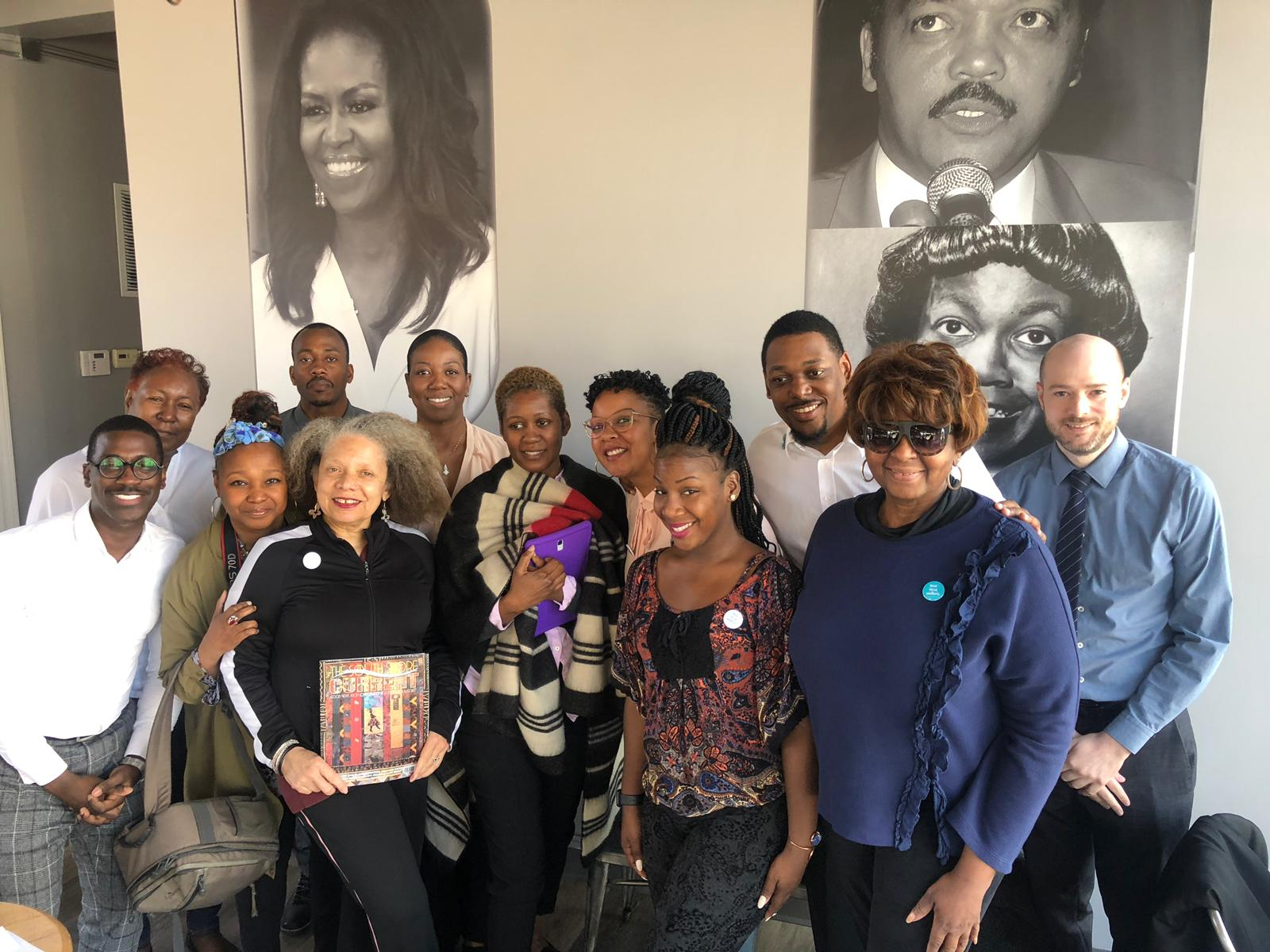 "Chanita and Herb Howard organized six On the Table events over two days for ""Memo to the Mayor."" They partnered with neighborhood experts to serve as facilitators."