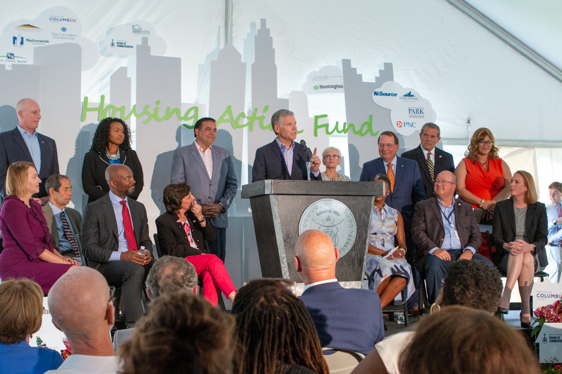 Columbus Foundation CEO Doug Kridler speaks about the foundation's commitment to the Housing Action Fund. (Photo credit: The Columbus Foundation)