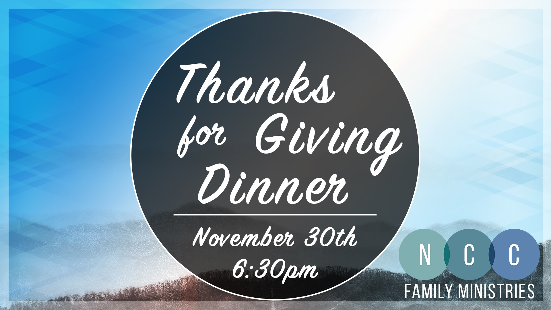 Thanks For Giving Dinner at New Covenant Church, Clyde, North Carolina