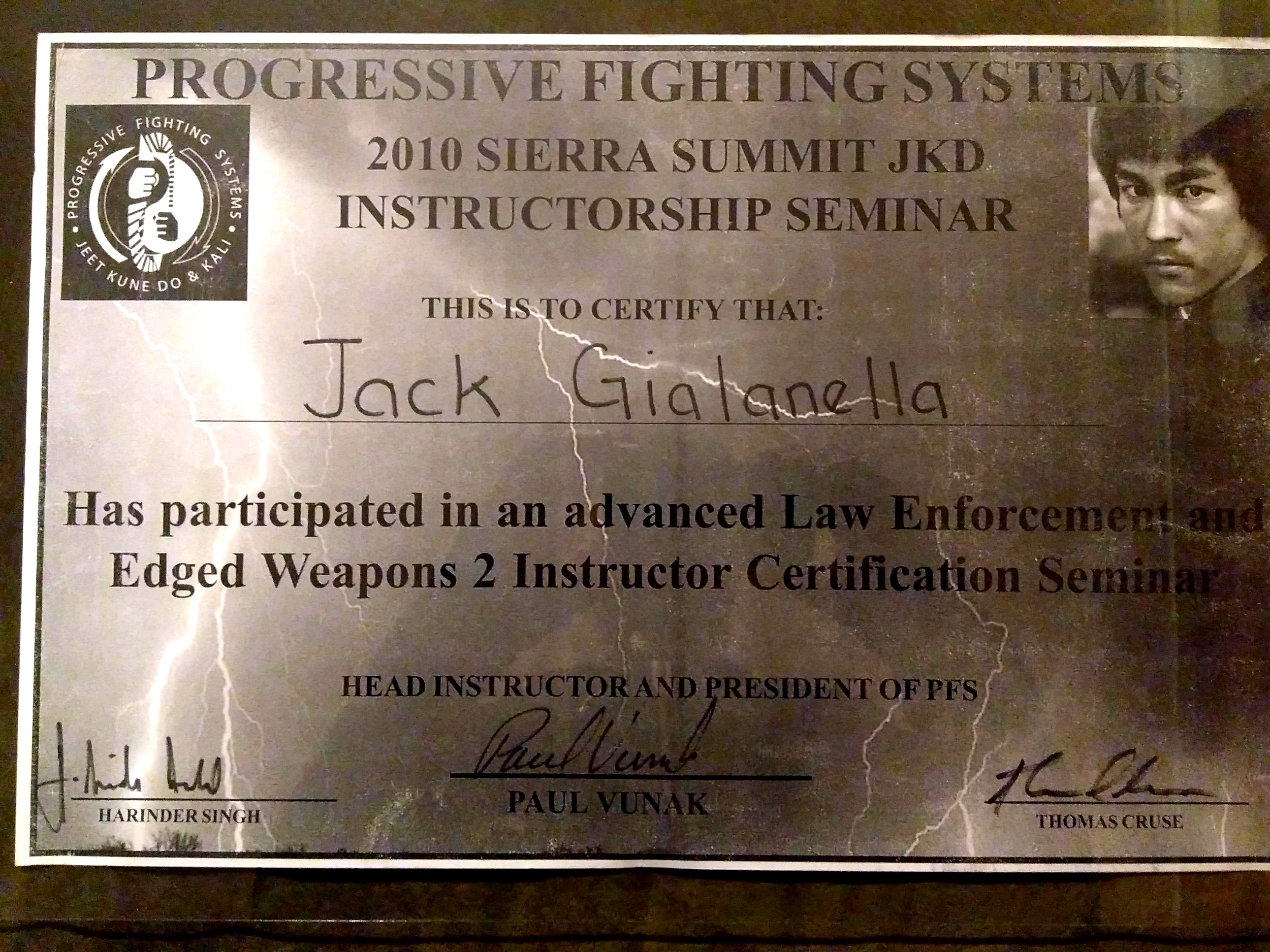 Advanced Law Enforcement and Edged Weapons—2010