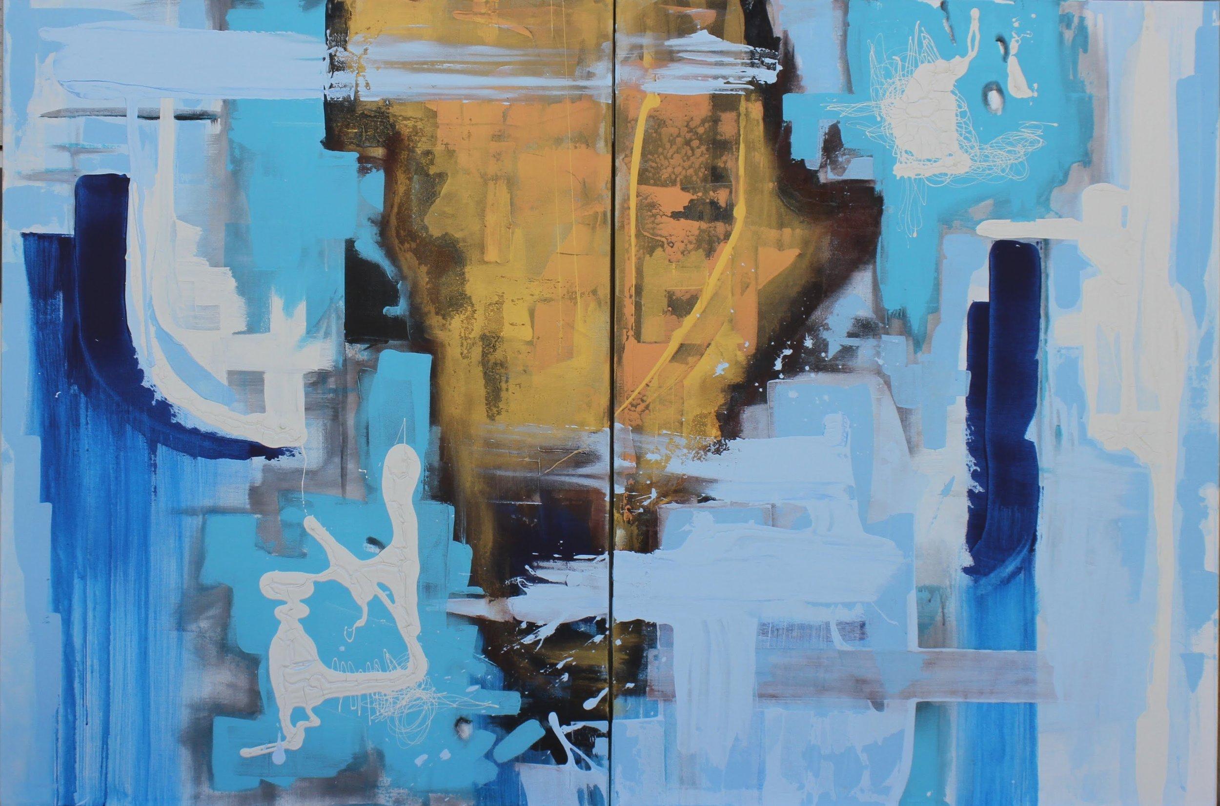 """""""Blue Bedroom"""" 36 x 24 (2)"""