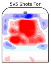 Heat Map courtesy of Micah Blake McCurdy's website HockeyViz (https://hockeyviz.com)