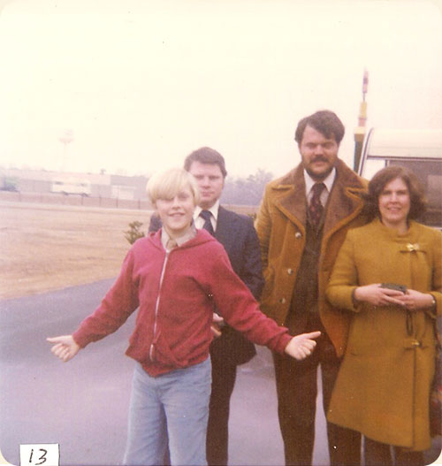 February 1978 (Walter Wedding) / Lumberton, N.C.  L-R Michael Earle, Jimmy Walter, John Earle, Jr., Carole W. Earle