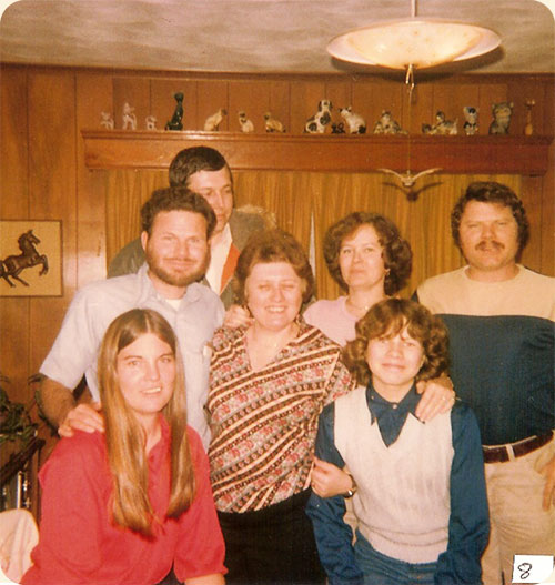 January 1979 / Elizabeth City, N.C.  L-R front Rose Mary J. Walter, Sandra P. Walter, Anna M. Walter, next Richard Walter, Lea W. Gregory, James (Jim) Walter, rear Edward Gregory.