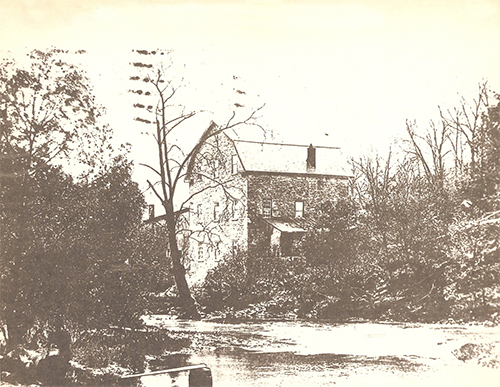 1800s / Walter's Upper Mill, Walter's, Easton, Northampton Co. {Palmer Twsp.}, PA.  Originally built circa 1760 and later owned by Jacob Walter. Passed on to son Charles W. Walter. Destroyed by fire in 1916 not rebuilt.