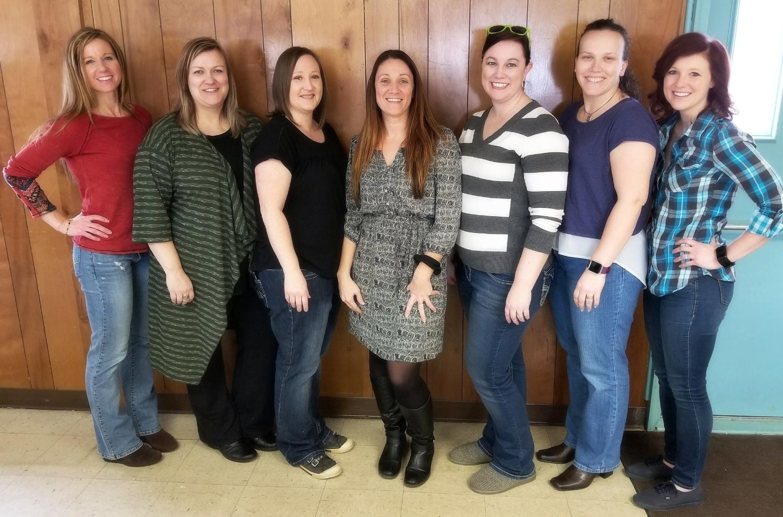 Board Members at the 2018 Sip & Paint Fundraiser  left to Right: Kasi Maple, Jennifer Wilson, Jessica Woodward, TishaMarie Stotlar, Kimberly Hatfield, Lana Goodrich, Stephanie Baker