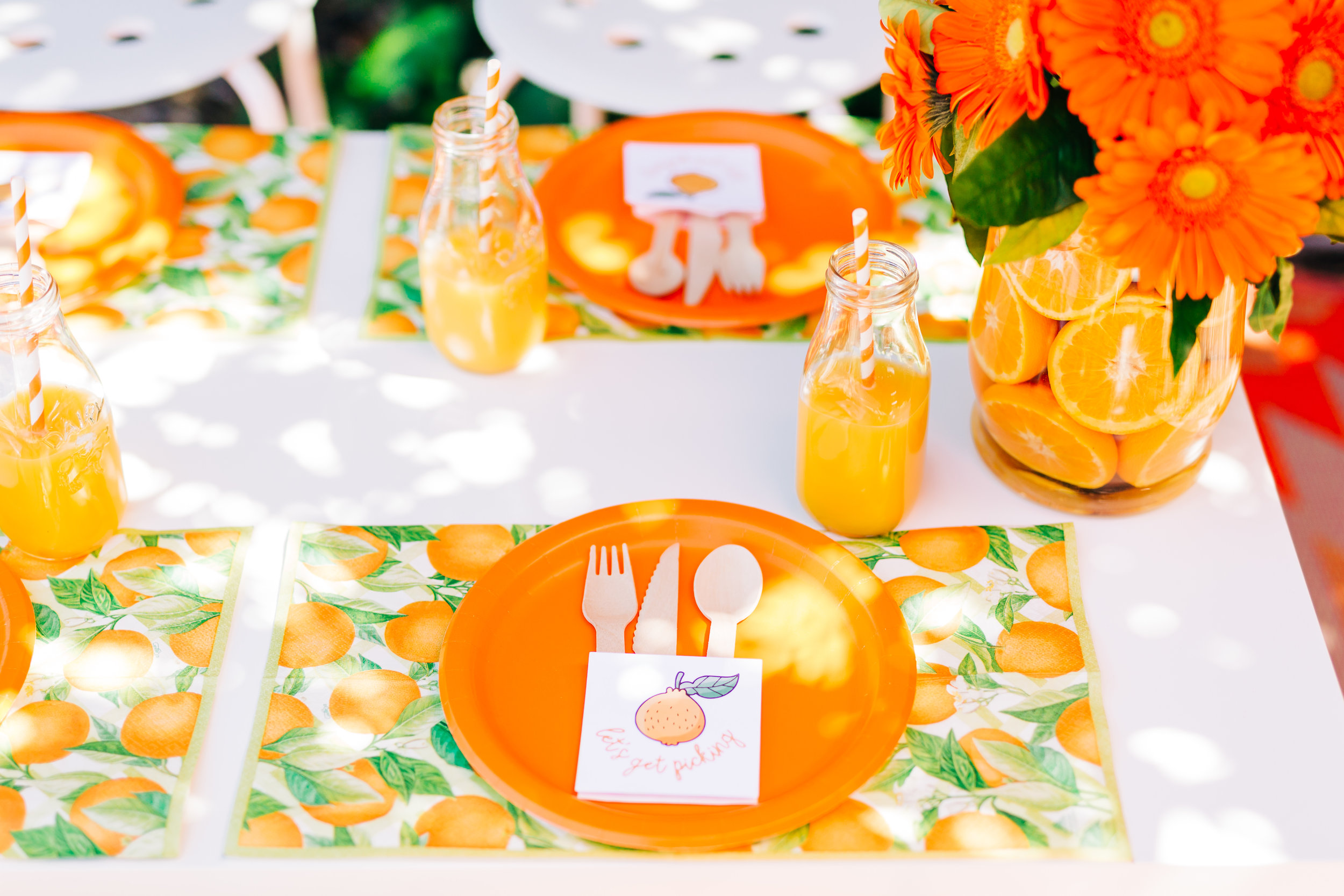 Orange picking party table setting. Citrus birthday party 8.jpg