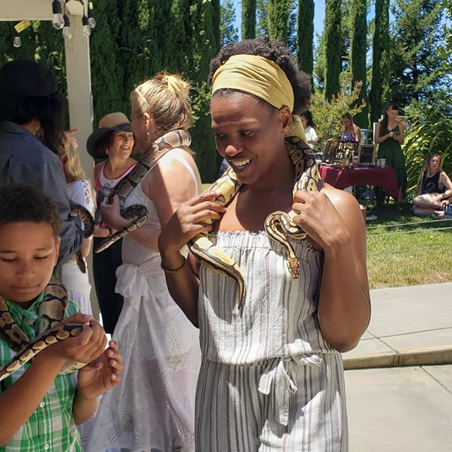 Just a regular Saturday hanging with the boys. 🐍 ☺️ #singlemother  #blessedfest #amakua #love #snakes