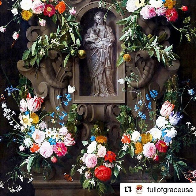 #Repost @fullofgraceusa with @get_repost ・・・ In celebration of May - the month of Mary 🙏  Hail Holy Queen enthroned above, O Maria! Hail Mother of Mercy and of Love, O Maria!  Triumph all ye Cherubim! Sing with us ye Seraphim! Heaven and earth resound the hymn! Salve, salve, salve Regina! . . . #fullofgrace #filledwithgrace #madeintheusa #catholic #smallbusiness #prayers #prayercard #fullofgraceusa #ourlady #mothermary #hailholyqueen #catholicism #holycard #AveMaria #displayyourfaith #catholicshop #catholicchurch #romancatholic #jesuschrist #trustinjesus #LambofGod #catholiclife #catholicfaith #catholiclove #catholicfamily #may #monthofMary #marianShrine #maycrowning