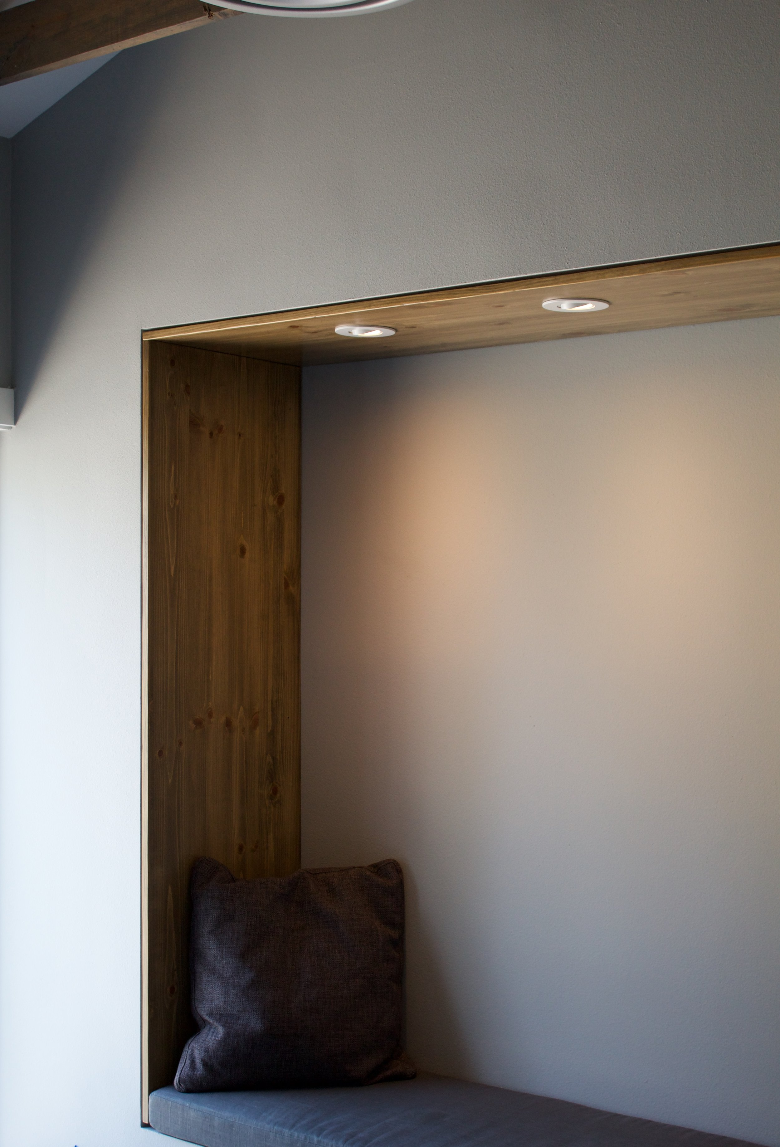 Stained Pine Booth Panels