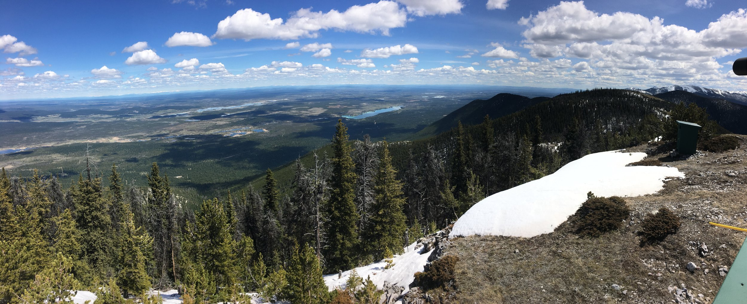 Actual view of Big Bar Lake from Jesmond Lookout hike.
