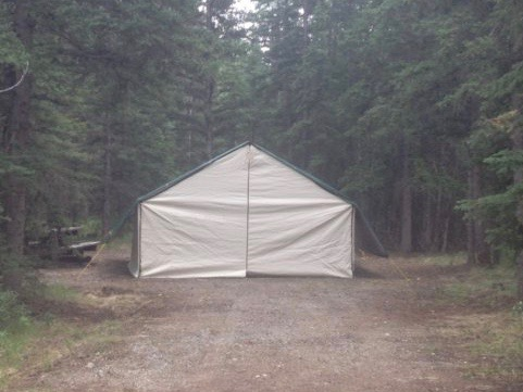 One of our 14x16' Wall Tents used for Accommodations during Camp
