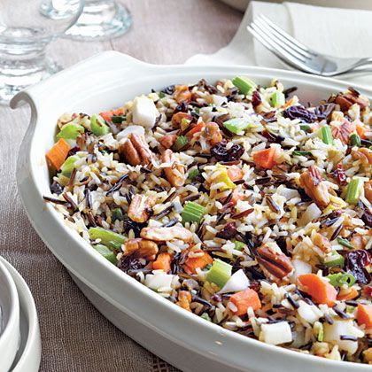 Wild Rice Stuffing with Dried Cherries and Toasted Pecans - See the recipe