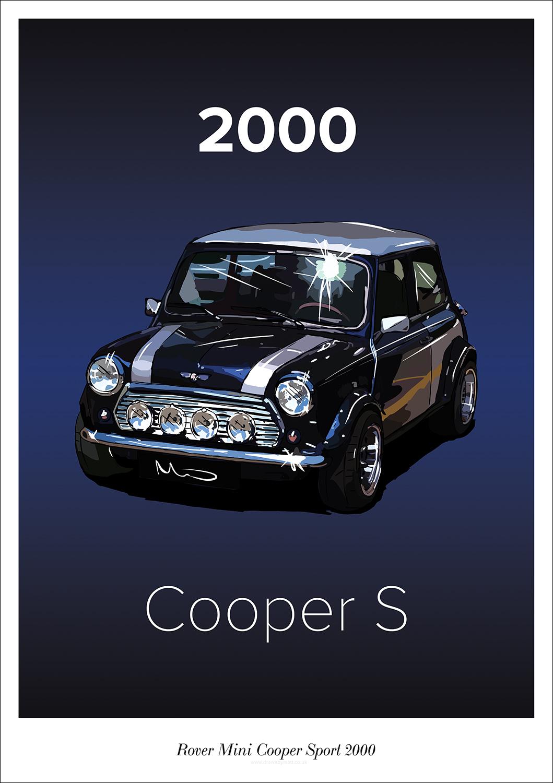 Drawn By Matt Rover Mini Cooper Sport 2000 Poster