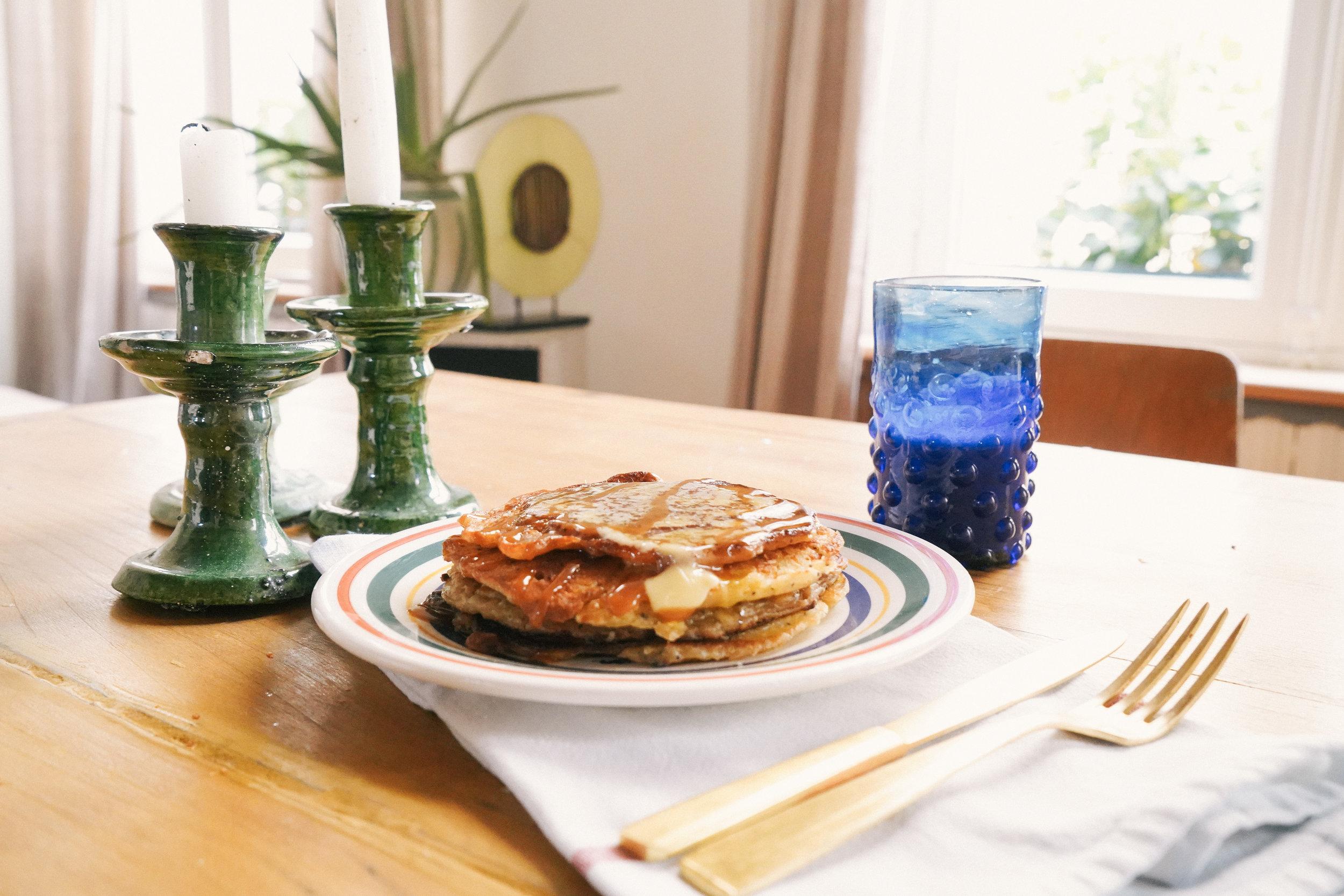 lemon poppyseed pancake recipe on dear saturdays