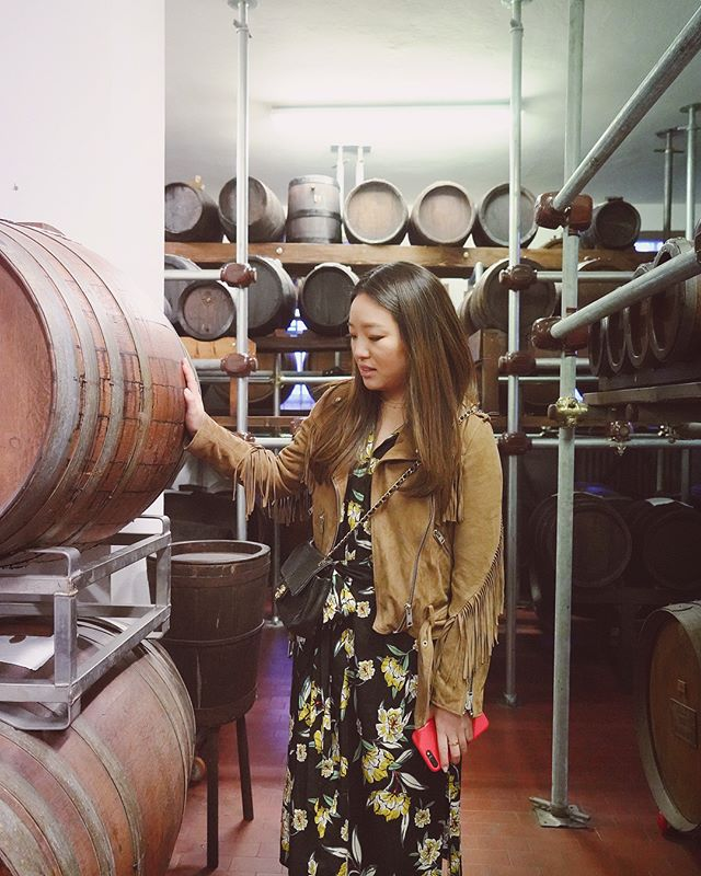 touring an acetaia in modena and being wedged between wooden balsamic vinegar barrels that are over a hundred years old is an experience straight out of my wildest dreams. someone, pinch me 🙀