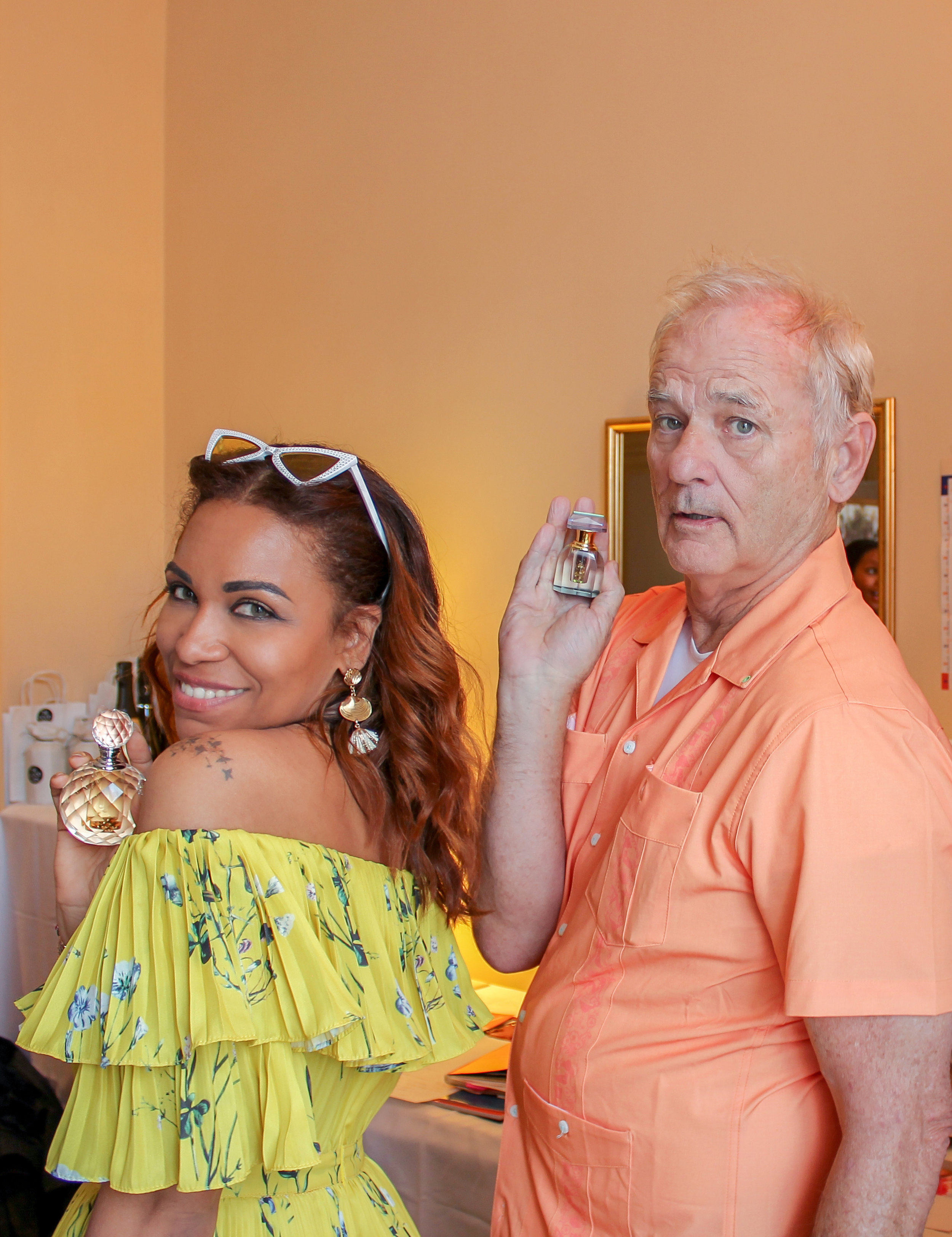 Bill Murray holding E.F. Nomad during Cannes Film Festival (DPA Celebrity Suite)