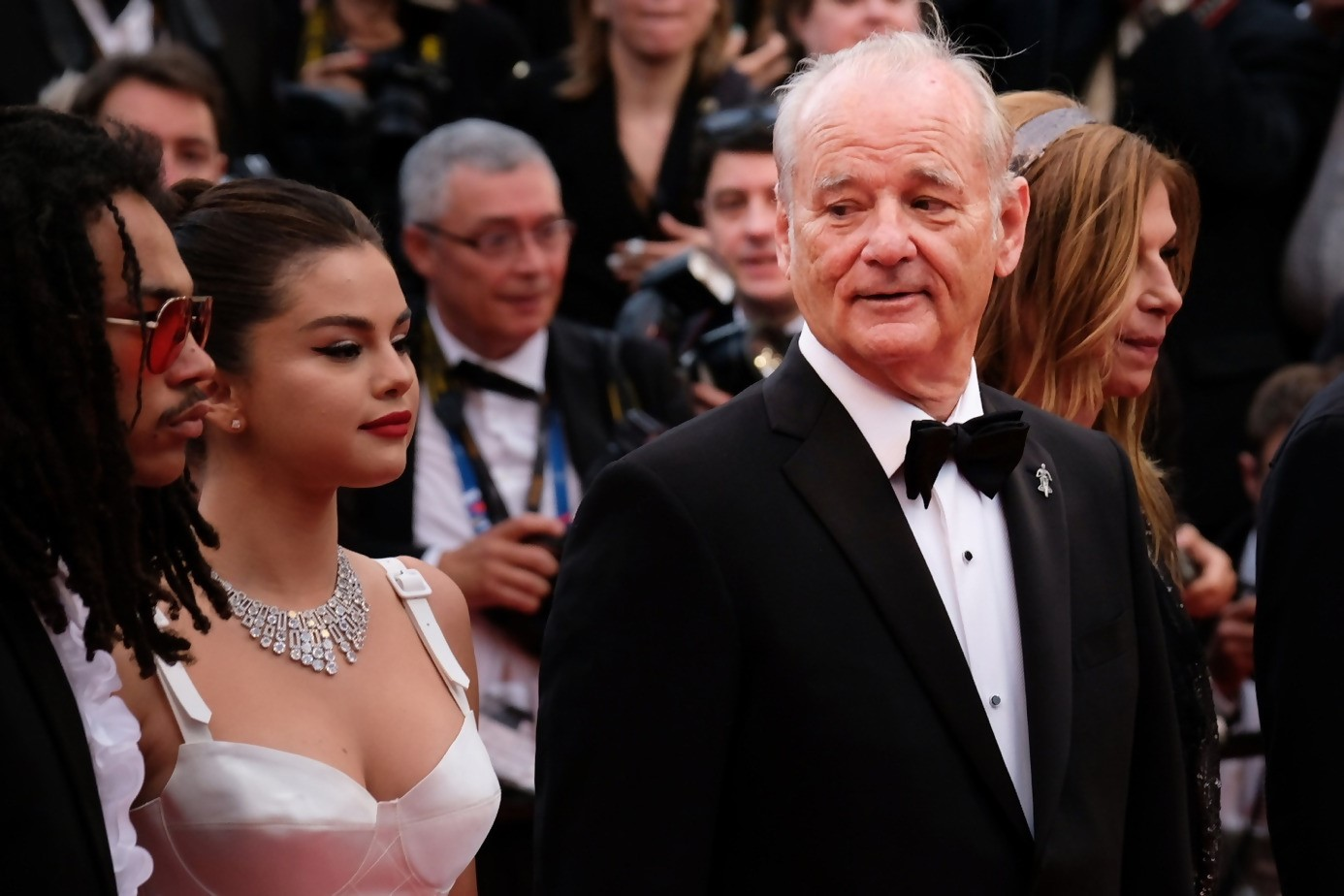 Red Carpet in Cannes Film Festival : Bill Murray and Selena Gomez for « The Dead Won't Die » movie