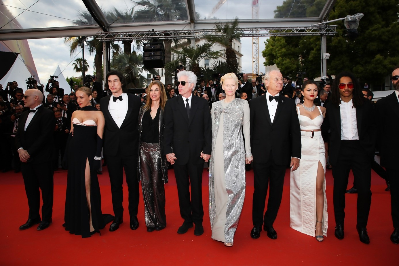 Red Carpet in Cannes Film Festival : Director Jim Jarmusch with cast of his movie « The Dead Won't Die »