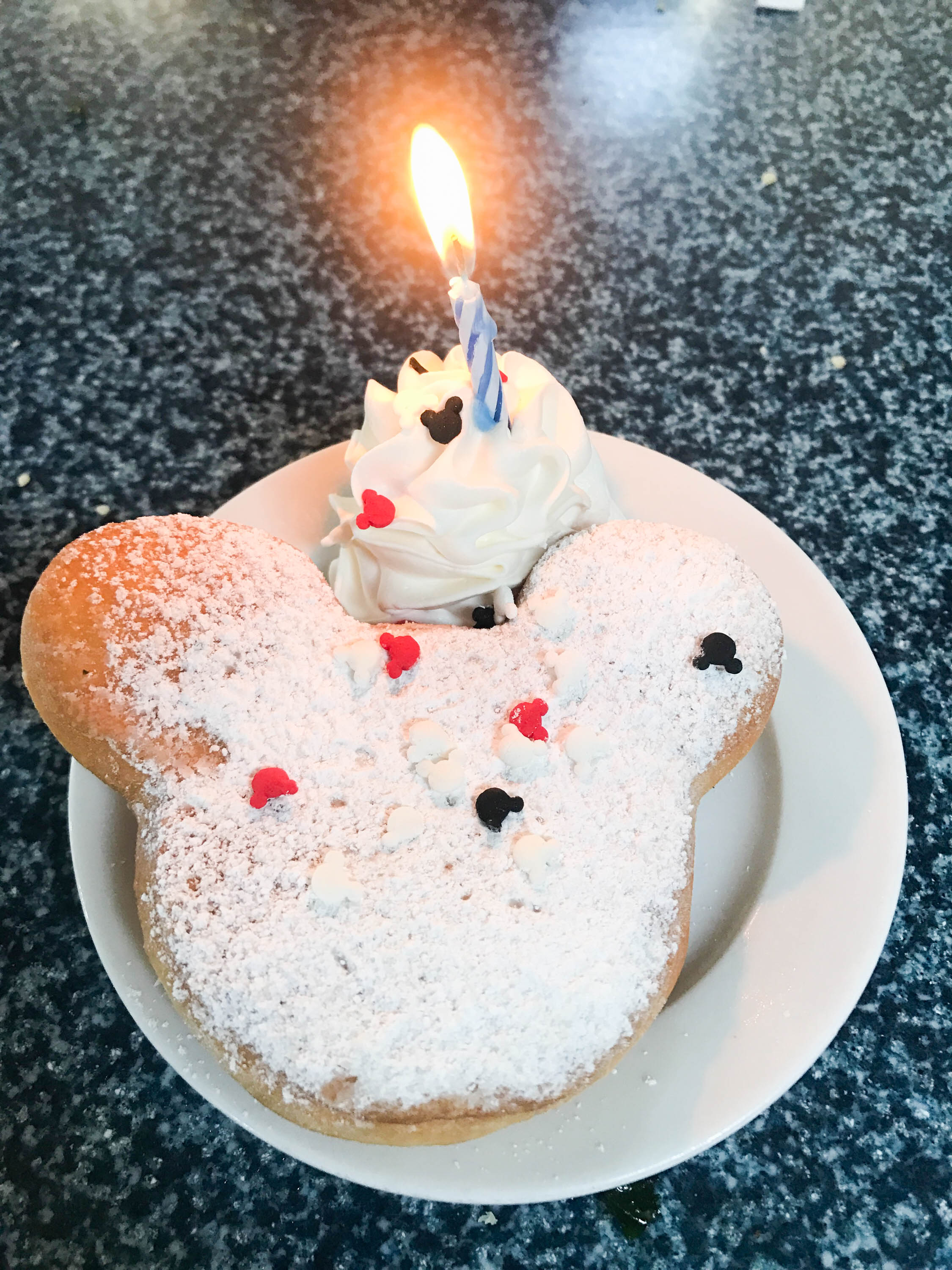 cafe orleans - complimentary birthday beignet