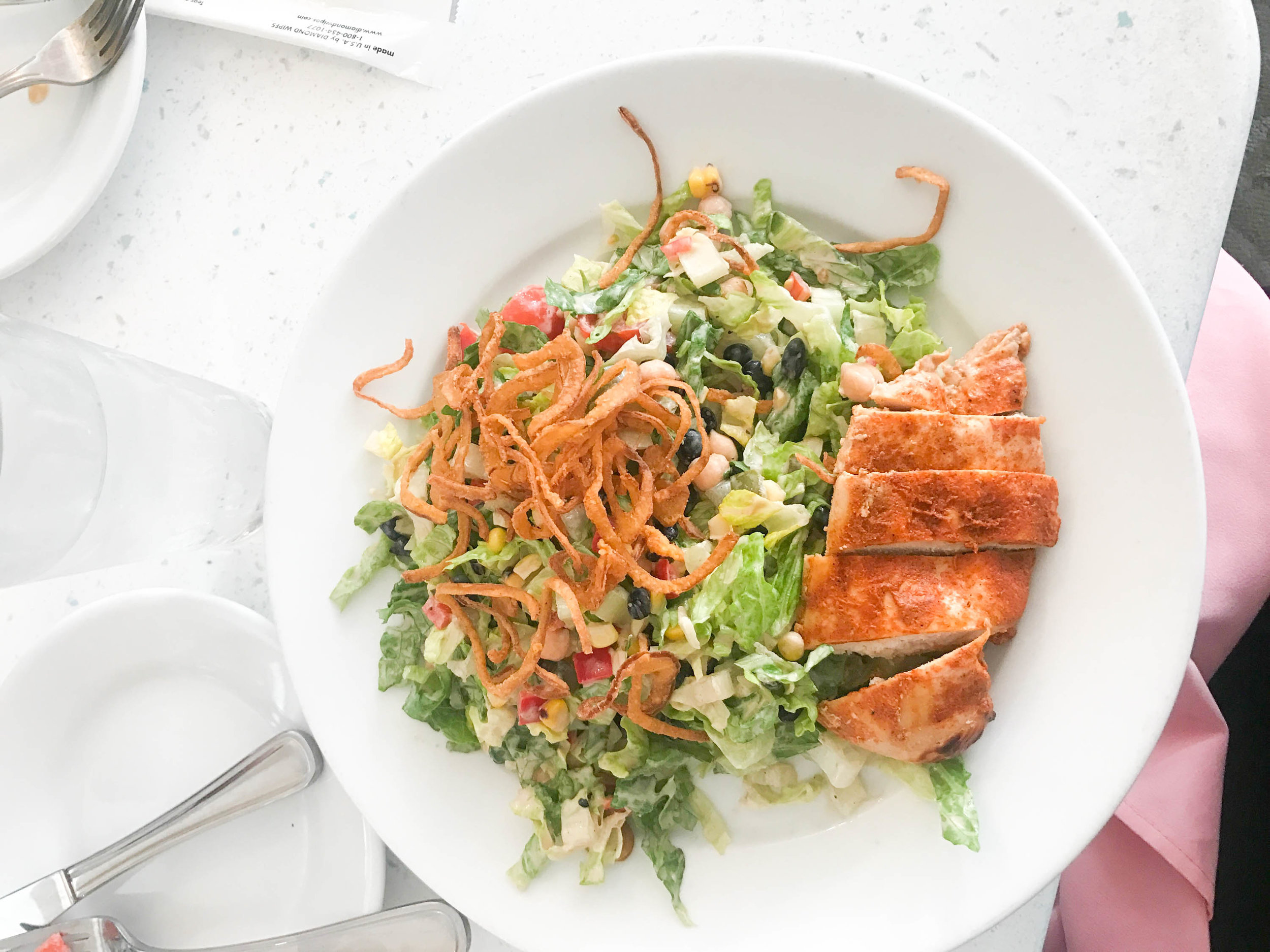 river bell terrace - chopped salad with chicken