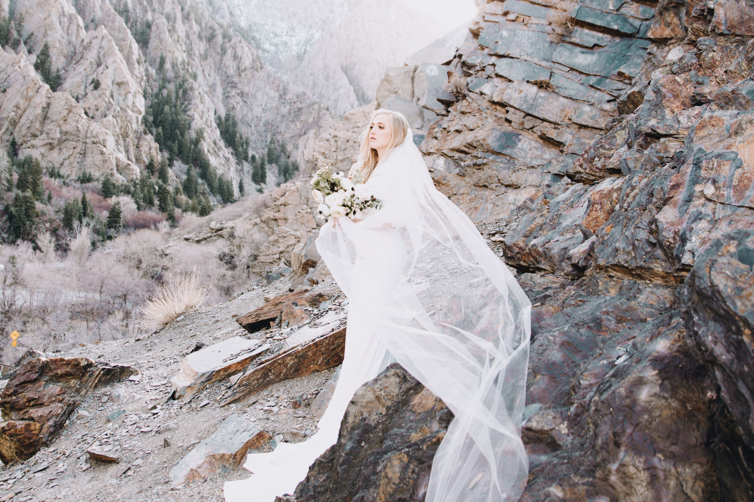 Photo by  Summer Soelberg  | Makeup By  Sarah Cox  | Gown via  The Perfect Dress  | Florals by  Amber Reverie