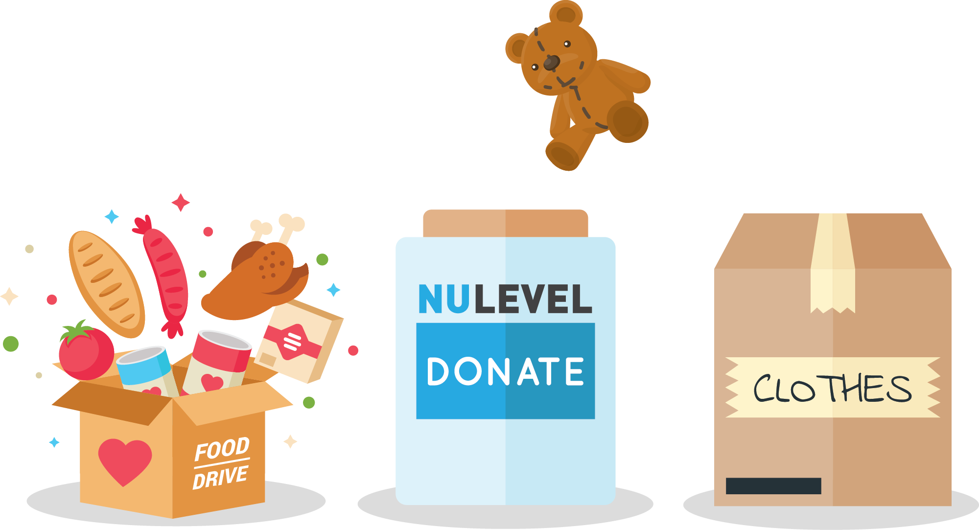 Donation Drives - We organize pledge and donation drives year-round for food, toys, and clothes. For the holidays,our employees make a special push for donations. We are grateful to the amazing local charities and shelters in the Bay Area who work hard every day for families in need.